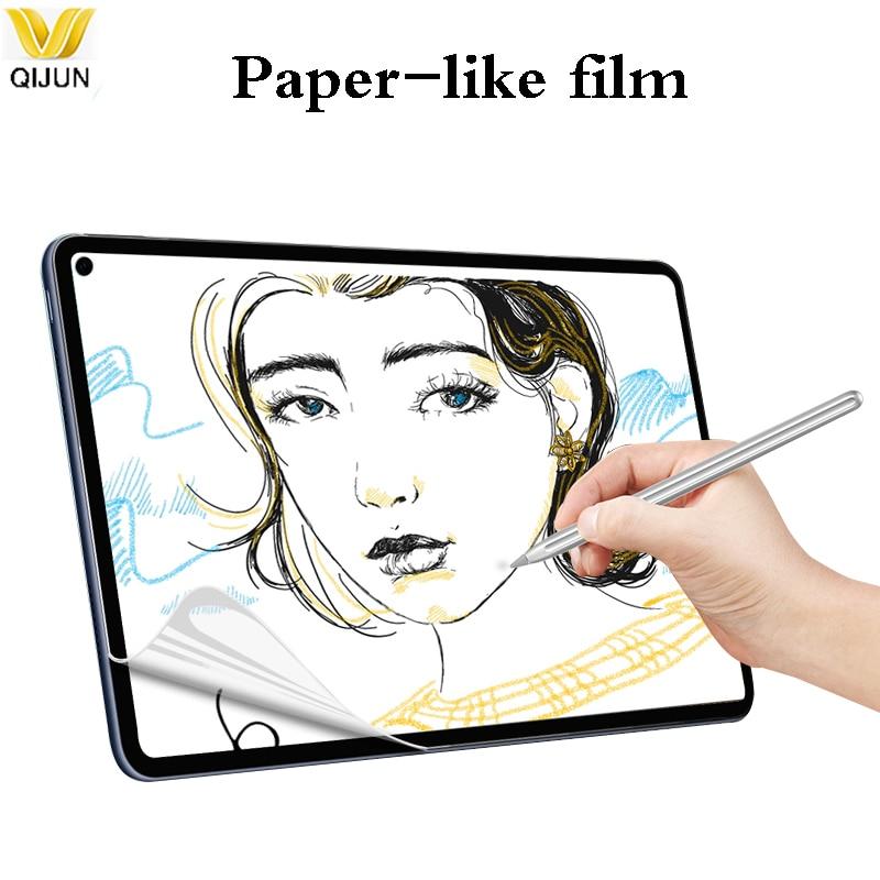 Пленка в виде бумаги для Huawei MatePad Pro 10,4 10,8, протектор экрана, ПЭ матовая пленка для письма с рисунком для Huawei M5 M6 8,4 Pro 10,8