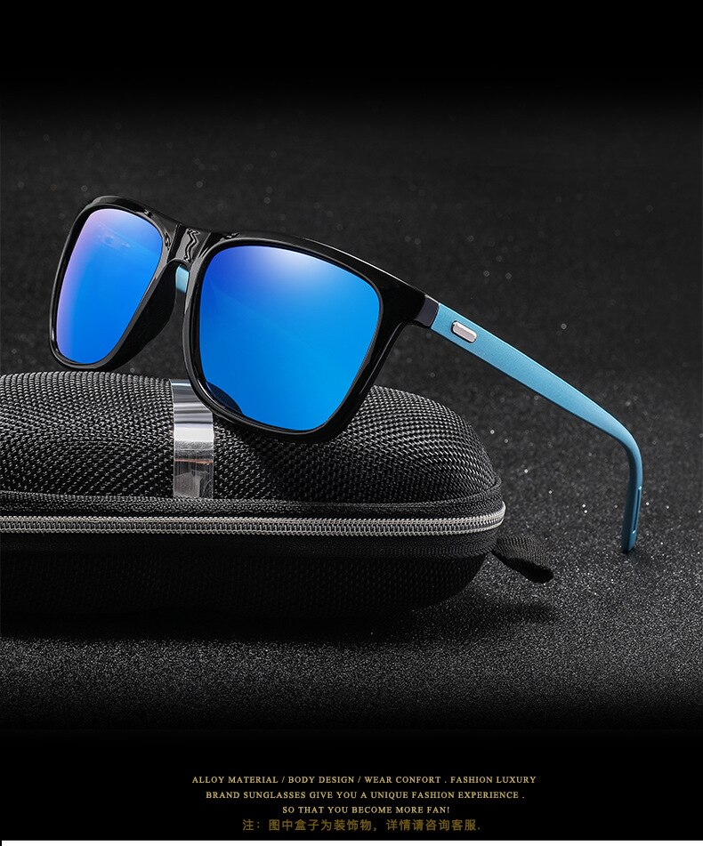 Asher Qiu New Arrival Brand Unisex Retro Sunglasses Polarized Lens Vintage Eyewear Accessories Sun Glasses For Men/Women