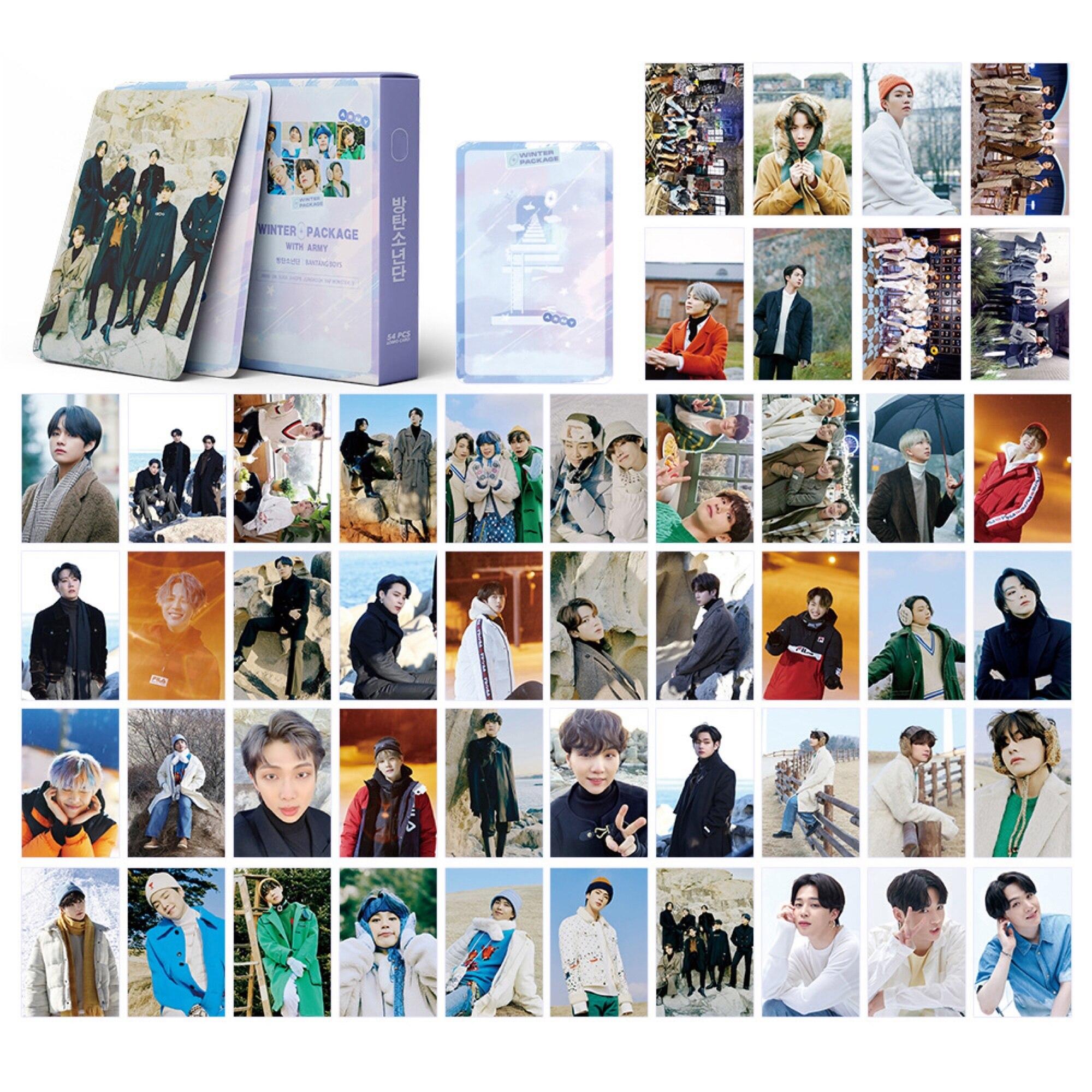 kpop lomo card bangtan boys album map of the soul persona member photocard set 30 cards 54pc KPOP Bangtan Boys New Album 2021 Winter Package LOMO Card MAP OF THE SOUL PERSONA Photocard Paper Cards JK SUGA V JIN JIMIN