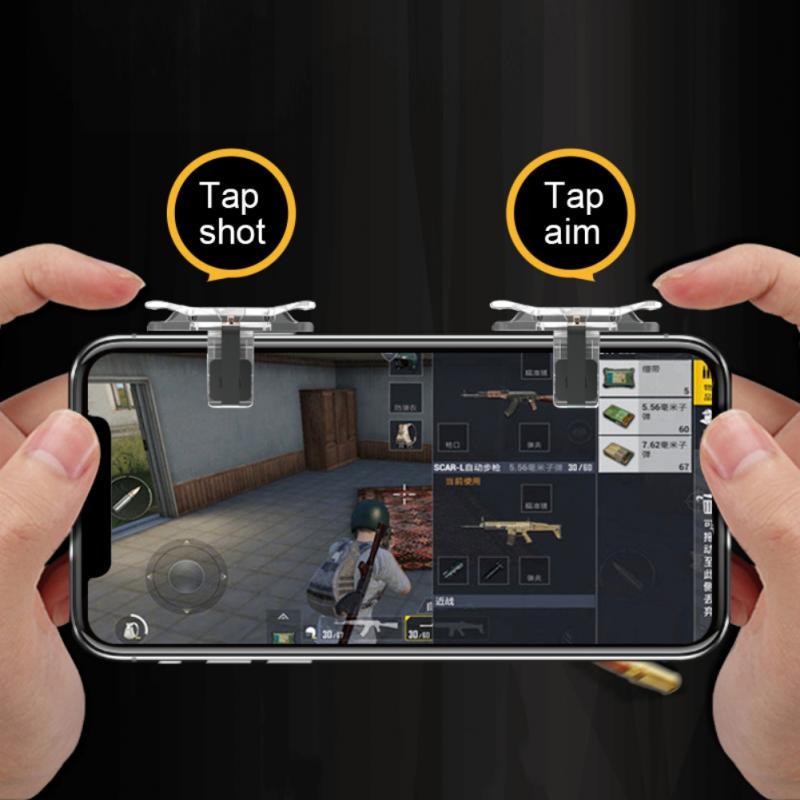 2PCS PUBG Mobile Game Controller Handle Trigger Target Button L1 R1 Shooting Joystick For Different