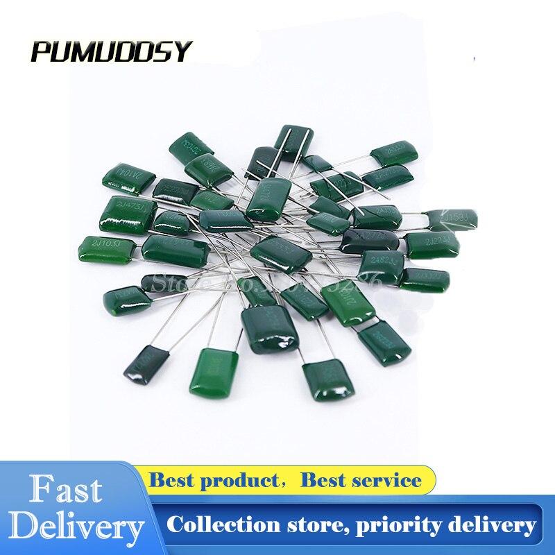 100 Película de Poliéster Capacitor Capacitância 2A332J 2A332 100V 3300pF PÇS/LOTE 3.3nF