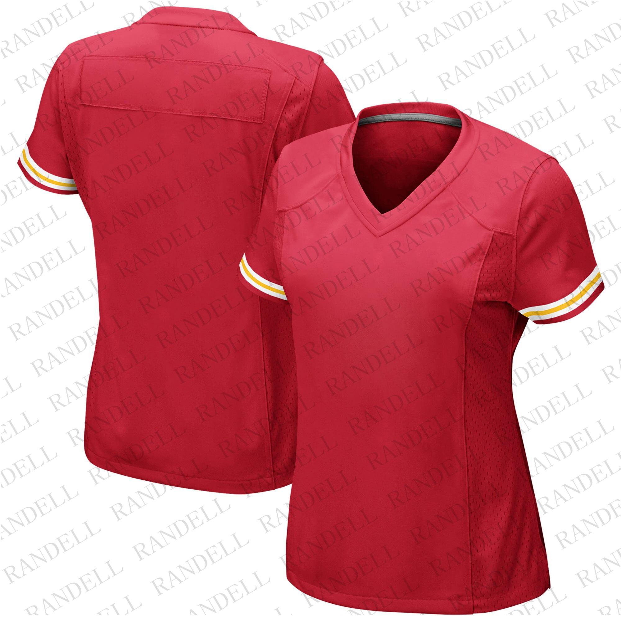 Camisetas de fútbol baratas para mujer, Camiseta deportiva para Fans de Kansas Patrick Mahomes Travis Kelce Joe Montana Berry Smith Mathieu, jerséis rojos
