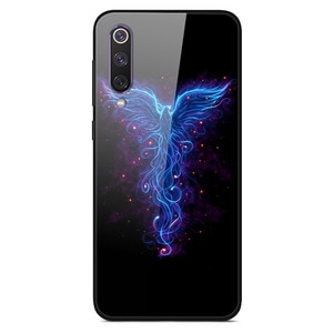 For Xiaomi 9 SE Phone Case Tempered Glass Case Back Phone Cover Series 1