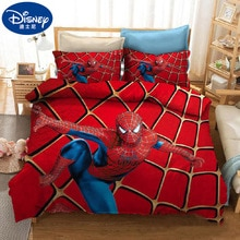 Disney Bedding Set Sheet Pillow Case Marvel The Avengers Heroes Spider Man Cartoon Bed Cover Single Double Twin For Children Kid