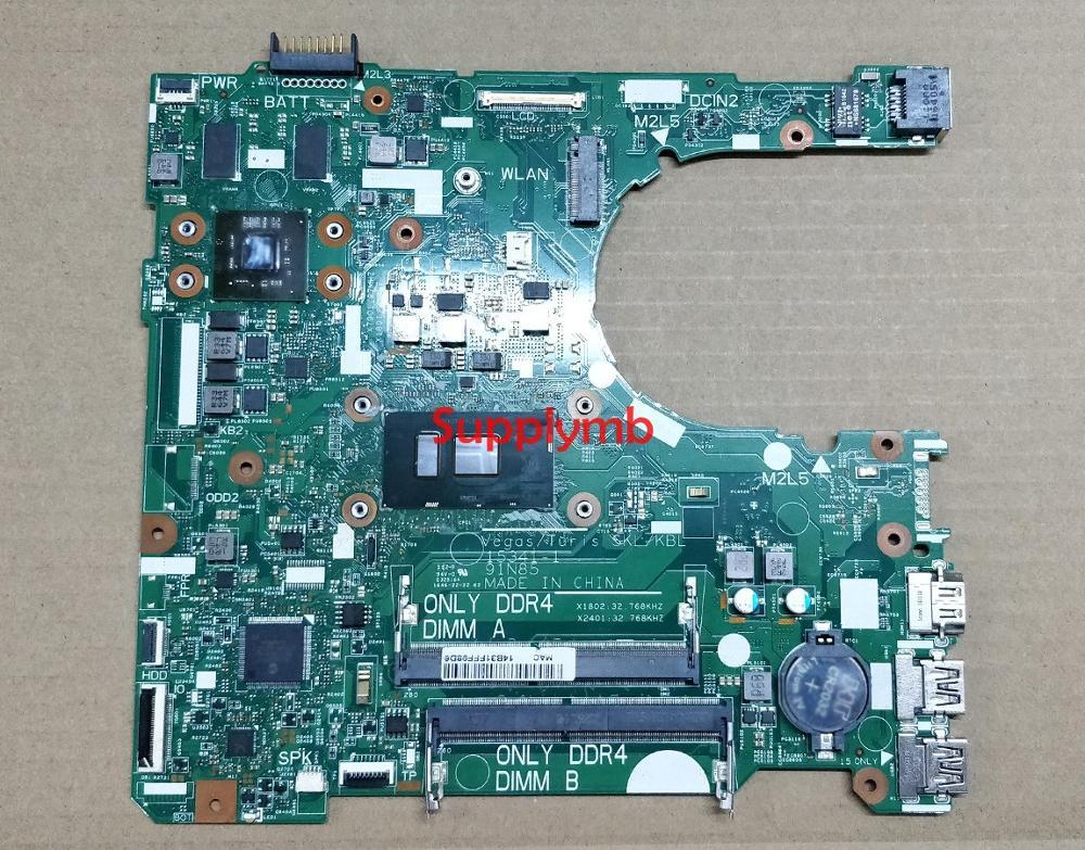 CN-0XT2G4 0XT2G4 XT2G4 15341-1 91N85 واط i3-6006U وحدة المعالجة المركزية لديل انسبايرون 14 3467 الكمبيوتر المحمول اللوحة الأم اختبار اللوحة الأم