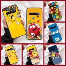 M & M S Chocolade Snoep Telefoon Geval Voor Samsung Galaxy Note S 8 9 10 20 Plus E Lite Uitra zwart Prime Soft Cover Siliconen Hoesjes