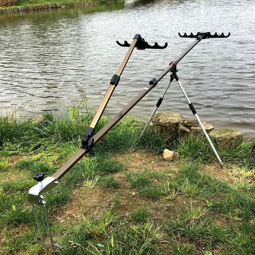 Equipo de pesca telescópico cañas de pesca soporte plegable de aleación de aluminio para pesca de carpa de mano Rods1.5m/1,7 m/2,1 m