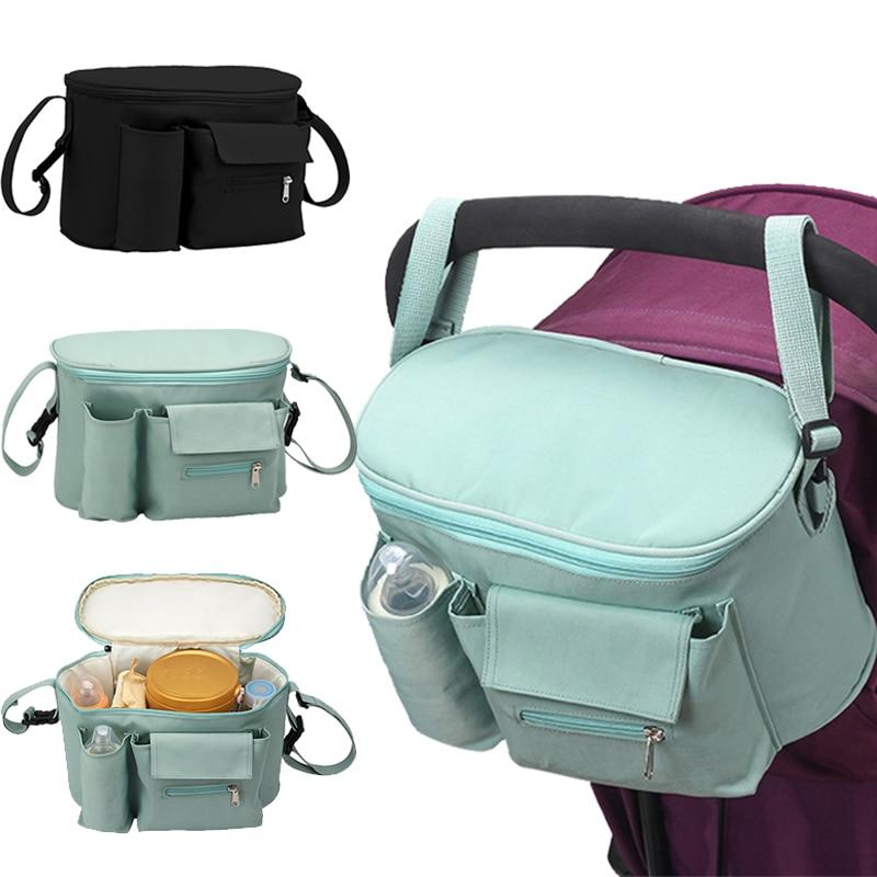 Baby Stroller Bag Organizer Mommy Travel Bags Accessories Toddler Waterproof Milk Bottle Diaper Nappy Pram Stroller Hanging Bag