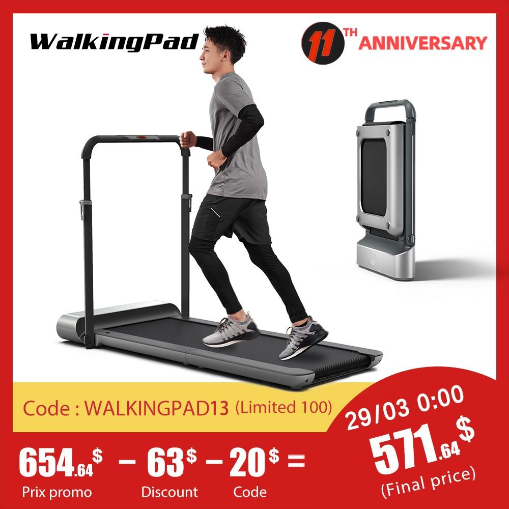 AliExpress - WalkingPad Treadmill R1 Pro Folding Upright Storage 10Km/H Speed Run Walk 2in1 Fit APP Control With Handrail Home Cardio Workout