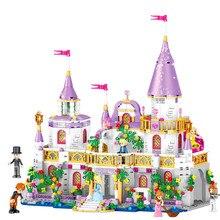 Dziewczyny kompatybilne z Lepining Friends 731 sztuk klocki księżniczka Windsor Castle cegły zabawki dla dziewczyny prezent