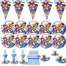 Beyblade Party Tableware Sets Paper Cups Plate Cartoon Happy Birthday Party Favors Kids Birthday Par