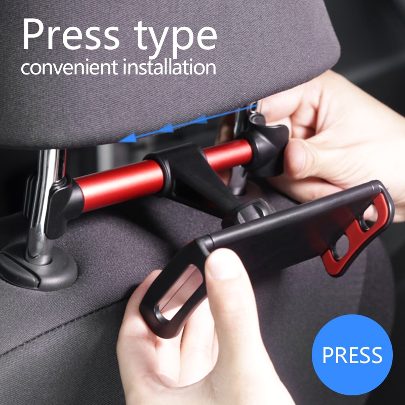 Universal 4-12.9'' Onboard Tablet Car Holder For iPad Air 1 Air 2 Pro 9.7 Back Seat Supporter Stand