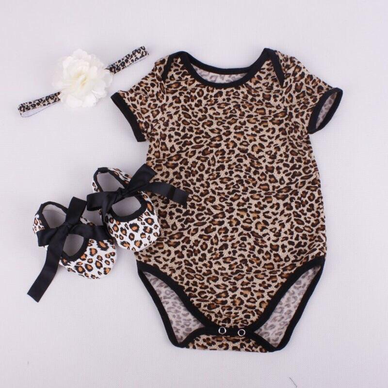 Pelele para bebé niña recién nacida 2020, mono con cinta para el pelo, 3 uds., conjunto de ropa Floral de leopardo, ropa de verano para recién nacido, ropa para niña bebé