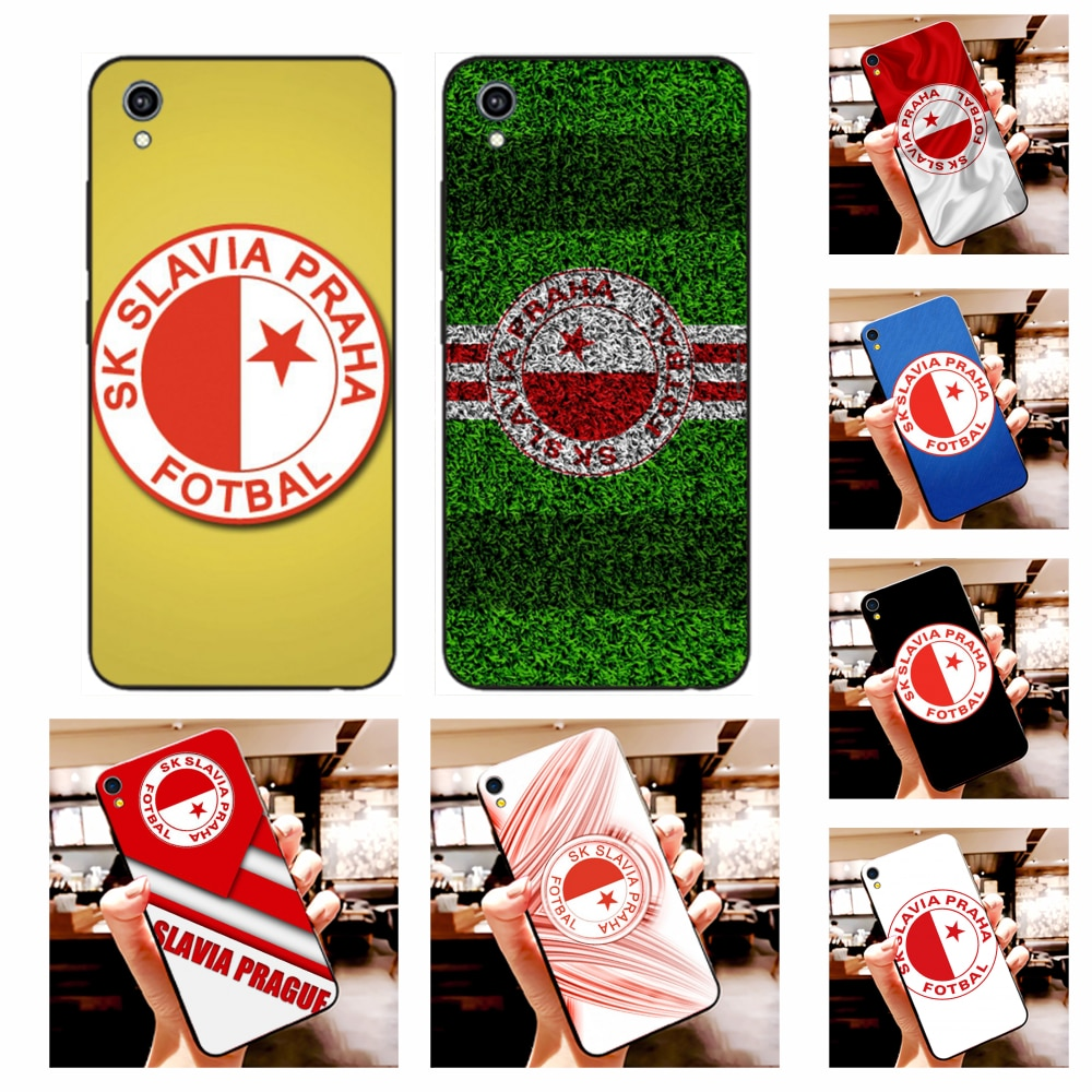 NBDRUICAI Sk Slavia Praha República Checa lujo diseño único teléfono cubierta para Vivo Y91c Y17 Y51 Y67 Y55 Y93 Y81S Y19 Y7S funda