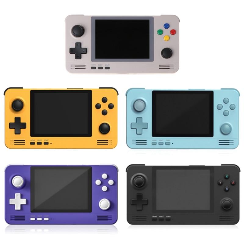 Портативная игровая консоль, Карманная игровая Ретро консоль с 3,5 дюймовым IPS экраном, Карманная игровая Ретро консоль с двойной системой от...