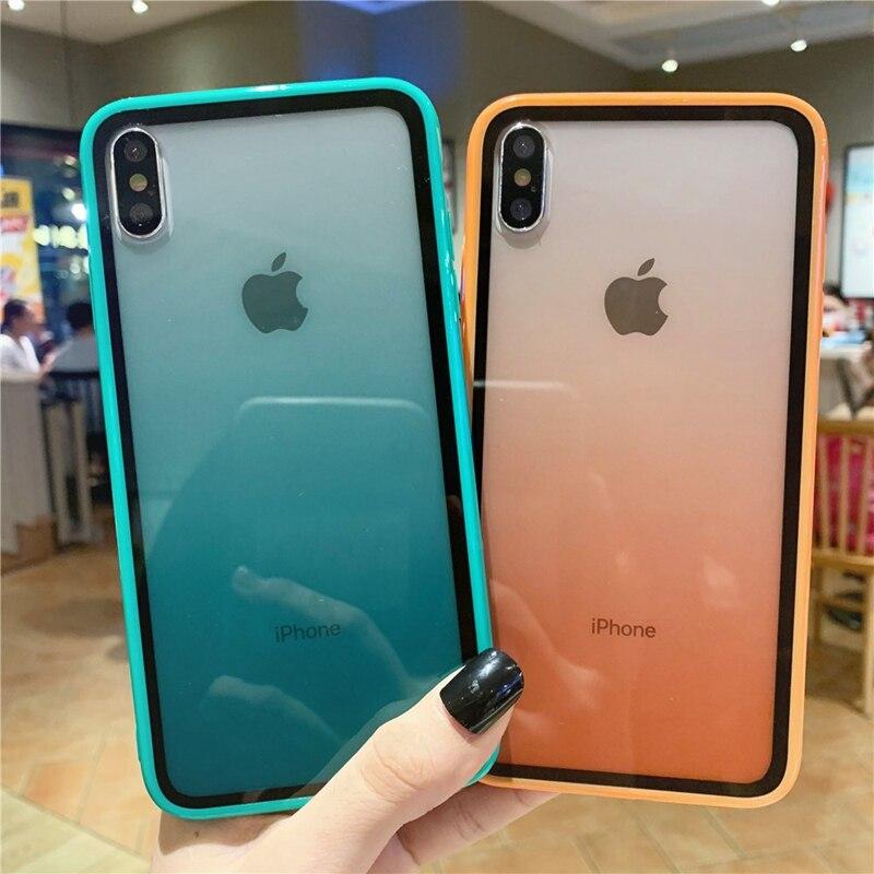 Funda de silicona colorida ICASSBY para iPhone 11 Pro Max X XS Max XR, funda de teléfono, funda de TPU suave para iPhone 7 8 6 6S Plus SE 2020