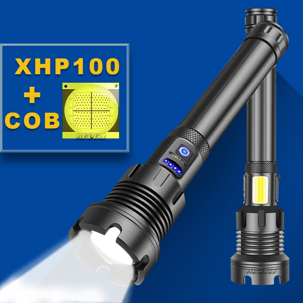 usb handy powerful led flashlight rechargeable super bright skyray xhp70 flashlights waterproof 18650 torch lamp light hunting Led Torch Xhp100 Powerful Flashlight 18650 Xhp90 Hunting Tactical Flashlight USB Rechargeable Flash Light Led Xhp70 Torch Light