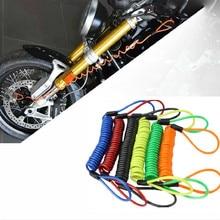 150cm Motorcycle Alarma Moto Disc Lock Security Anti Thief Motorbike Disc Lock Reminder Coil Cable B