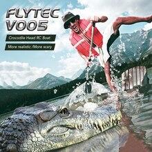 Flytec V005 tête de Crocodile RC bateau 2.4G véhicules de Simulation électrique modèle RTR drôle enfants jouets