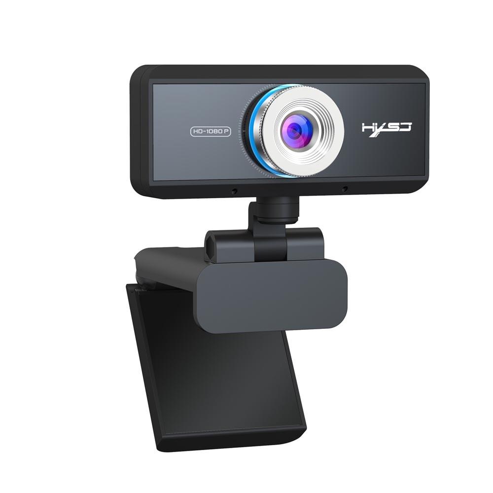 Cámara web de videollamada de enfoque automático Full HD 1080P 30fps cámara de llamada de pie con orificio de trípode de micrófono para computadora portátil Skype