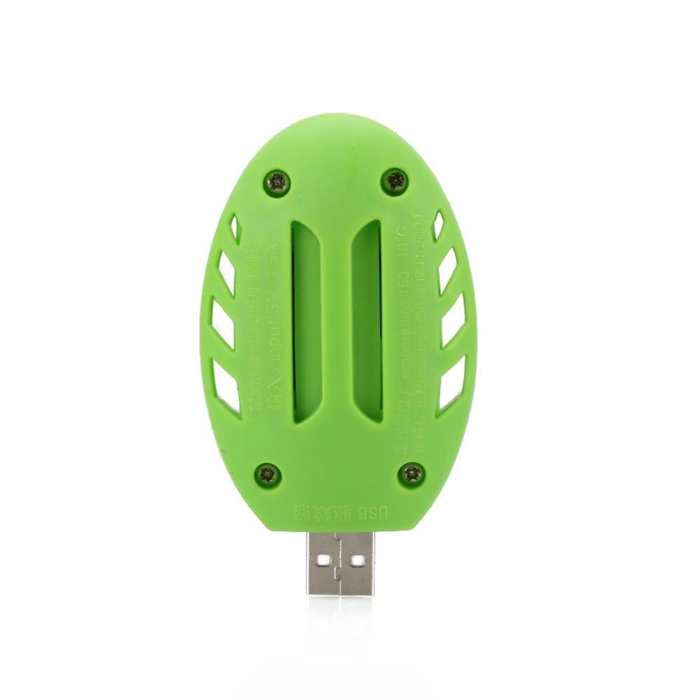 Электрический Отпугиватель комаров, Портативный Удобный безопасный пластиковый USB-Отпугиватель комаров зеленого и белого цветов для дома