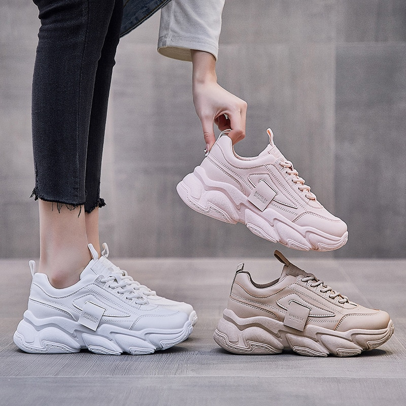 Old Daddy Shoes Women's Spring 2021 New Korean Version of All-match Breathable Casual Sports Shoes Women's Shoes
