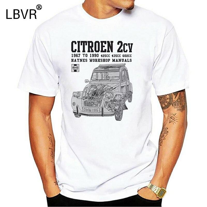 Франция классический автомобиль 2Cv новый бренд-одежда футболки хип-хоп простая комбинированная футболка футболки с 3D принтом