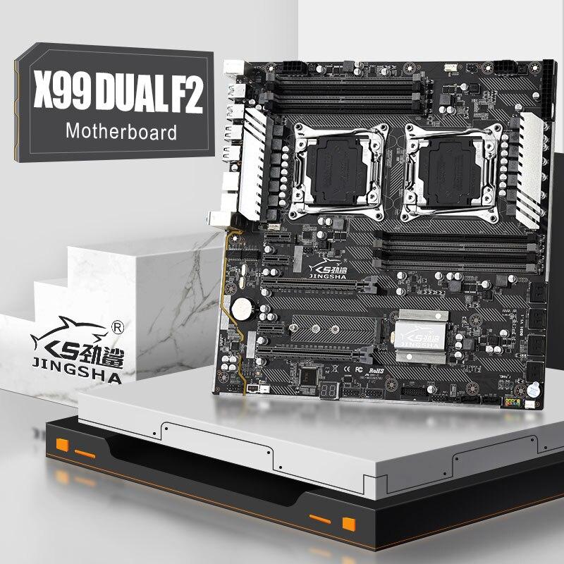 JINGSHA X99 المزدوج F2 اللوحة دعم LGA2011-3 إنتر سيون E5 V3 8 * DDR4 1600/1866/2133/2400MHz ECC REG RAM 10 * SATA3.0 M.2 SSD
