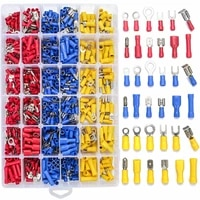 840pcs electrical wire connectors insulated wire crimp terminals mixed butt ring fork spade bullet quick disconnect assortment