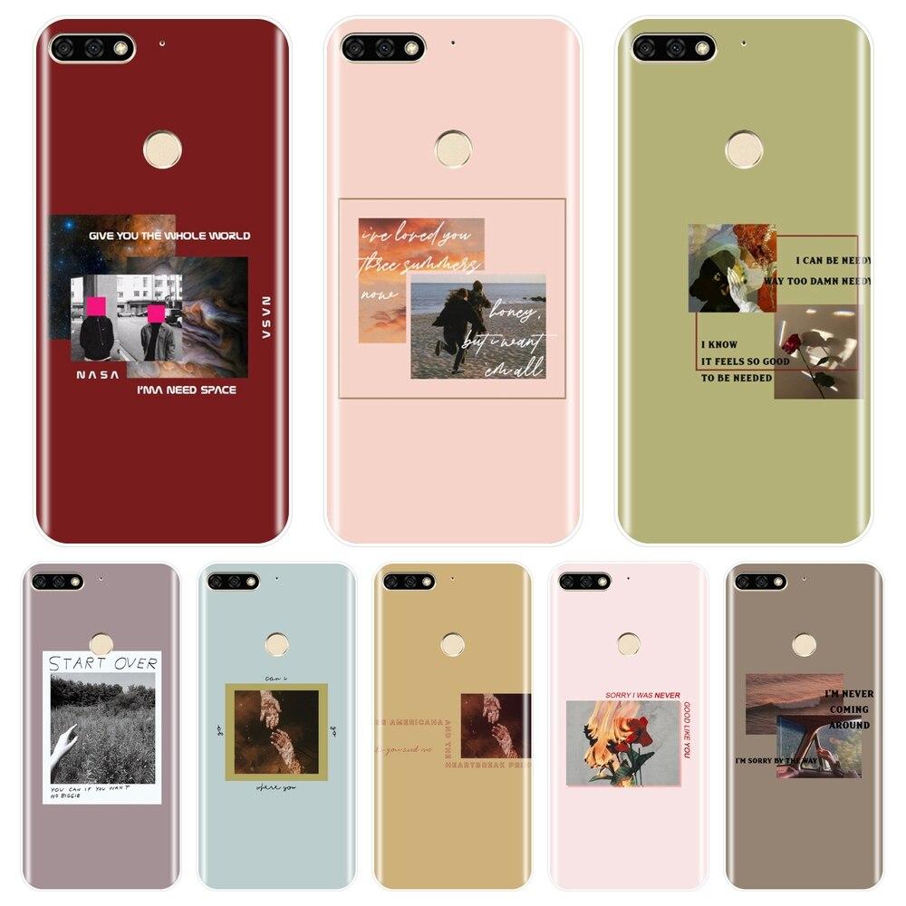 Funda estética para Huawei Honor 8X MAX 10 9 8, funda de silicona para teléfono Huawei Honor 7 8 9 10 Lite 7S 7X 7A 7C Pro, color rosa