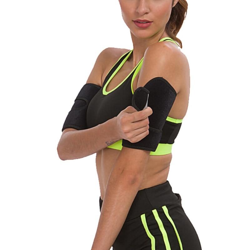 H Gym Fitness hombres y mujeres brazaletes Body Shaper Sauna Sweat Band adelgazador manga envoltura perder peso Deporte Running compresión
