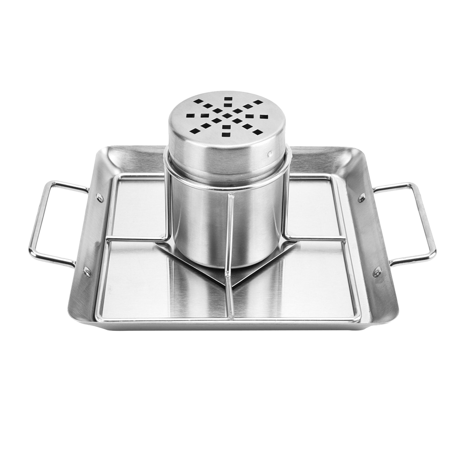 Beer Can Chicken Holder Roaster Rack Includes Metal Canister and Drip Pan