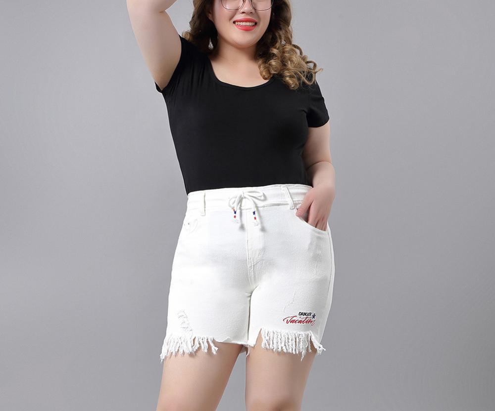 2020 new arrival casual Denim Shorts Women's White Women Short Jeans Wide Leg Elastic Waist Vintage High Waist Shorts Women Summ