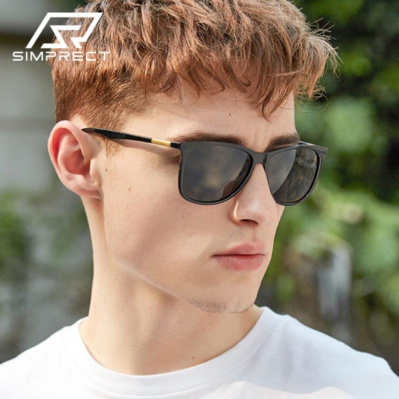 Gafas de sol polarizadas cuadradas TR90 de la marca simprecit, gafas de sol para hombre 2020 UV400, gafas de sol Retro Para conductor, gafas de sol Vintage para hombres