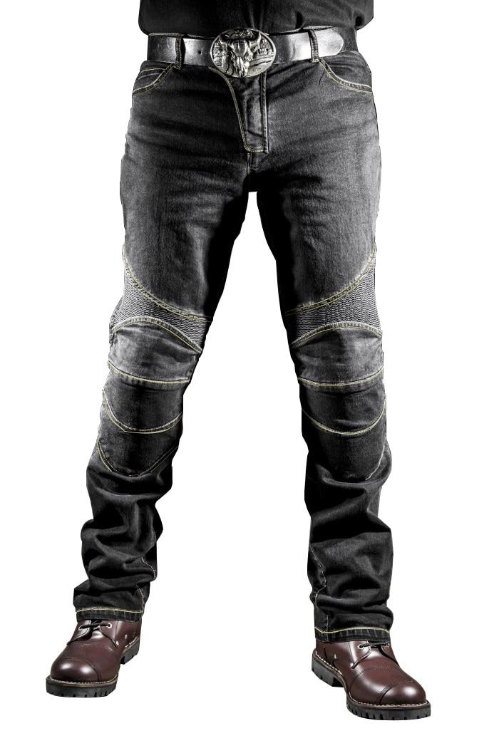 Calças de brim casuais motocicleta rua moto cavaleiro calças de moto calças masculinas