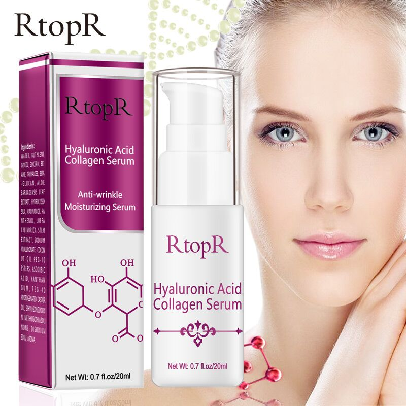 RTOPR Hyaluronic Acid Collagen Face Serum Acne Treatment Anti Wrinkle Skin Care Essence Face Care Whitening Anti-Aging Serum недорого