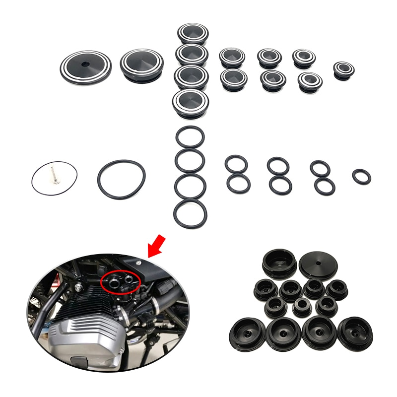 r1250 rt high quality motorcycle cnc aluminum frame hole cap cover for bmw r1250rt r1200rt lc 2014 2015 2016 2017 2018 2019 2020 R NINE T Frame Hole Caps Frame Cap Set fits For BMW R NINE T R9T 2013 2014 2015 2016 2017 2018 2019 Motorcycle aluminum Covers
