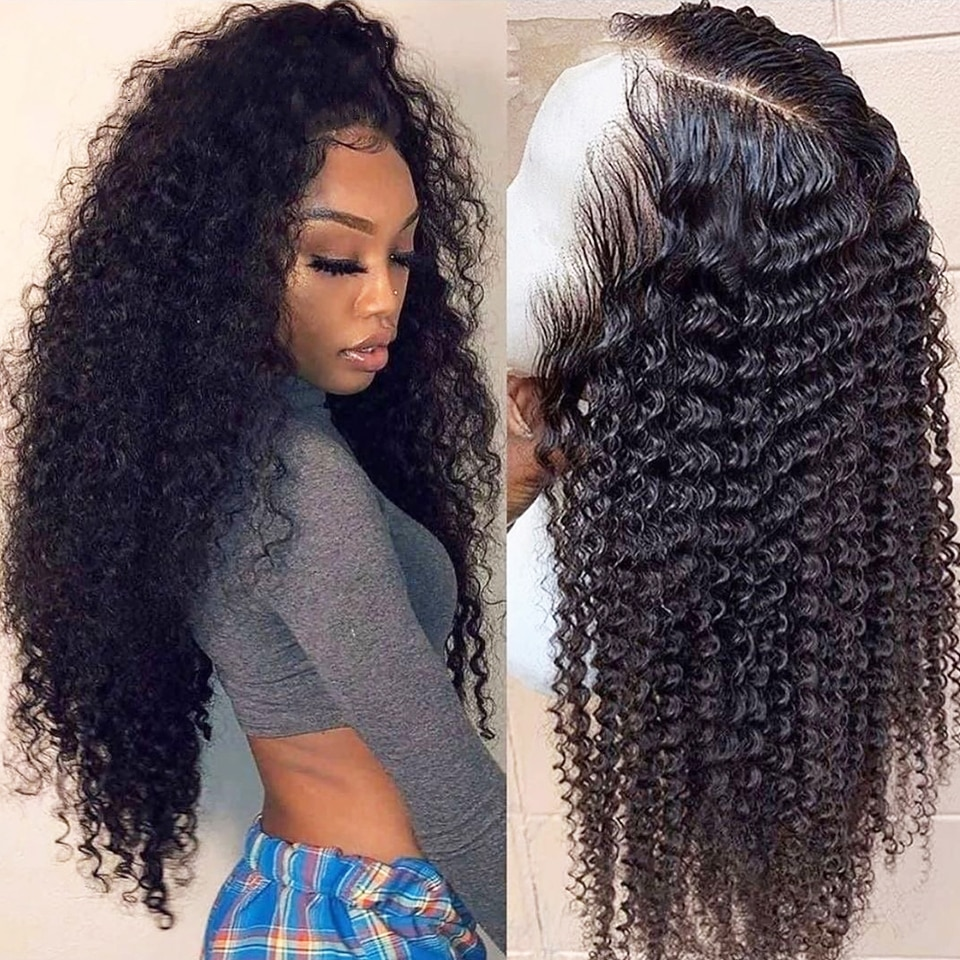 FDX 30 32 Inch Kinky Curly Wig 13x6 HD Transparent Lace Front Human Hair Wigs 250% Remy Indian Hair 4x4 5x5 6x6 Lace Closure Wig