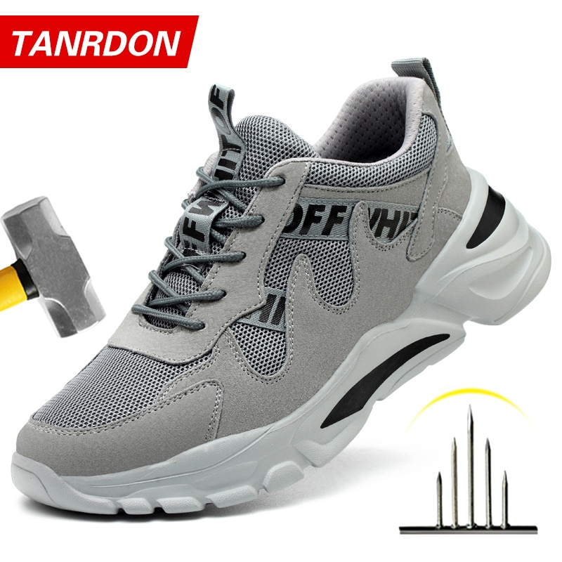 men safety shoes with boots sport work shoes for men protective steel toe cap boots work indestructible construction shoes Construction Indestructible Shoes Men Steel Toe Cap Work Safety boot Safety Shoes Men Boots Camouflage Military Boots Work Shoes