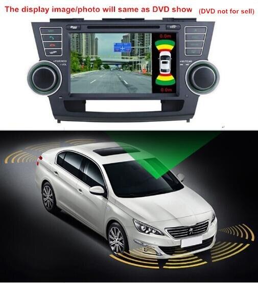 Monitor de estacionamento vídeo do carro sistema detector com 8 sensor 2 hd câmera android monitor para carro universal 12 v 360 ponto cego auxiliar