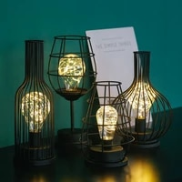 vintage iron small night light ornaments creative home living room decoration bar coffee shop crafts set up