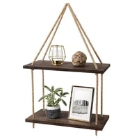 2 tier wall hanging shelves wood window shelf rustic storage rack home decor photos decorations display for bedroom kitchen