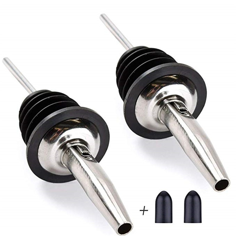 New Stainless Steel Wine Liquor Pourer Wine Bottle Pourer Stopper Oil Bottle Pourer Stopper new high quality stainless steel wine stopper portable durable stainless steel wine stopper bar accessories support wholesale