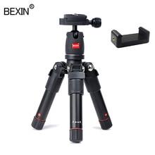 BEXIN mini trépied portable en aluminium voyage compact léger support de caméra flexible pour appareil photo reflex numérique téléphone mobile intelligent
