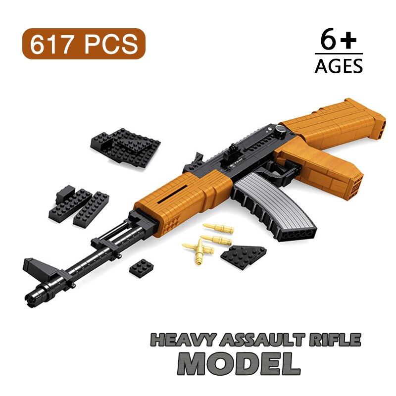Монтажный пистолет, модель, штурмовый винтовочный светильник, пистолет AK47, пистолет для спорта на открытом воздухе, стрельбы, игры для мальч...