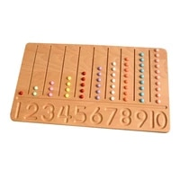 wooden montessori childrens educational teaching aids beech counting 1 10 digitals writing board game toys for baby 3 year gift