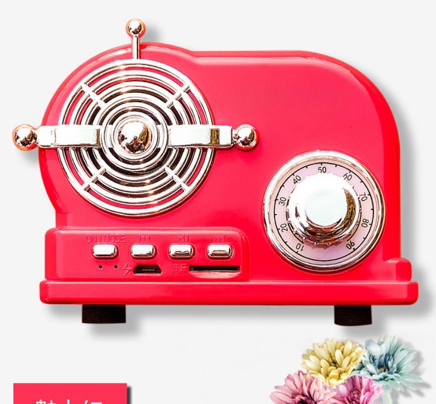 FM Retro Headphone Radio Bluetooth Speaker Creative Gift Portable Audio Stereo Outdoor Speakers  - buy with discount