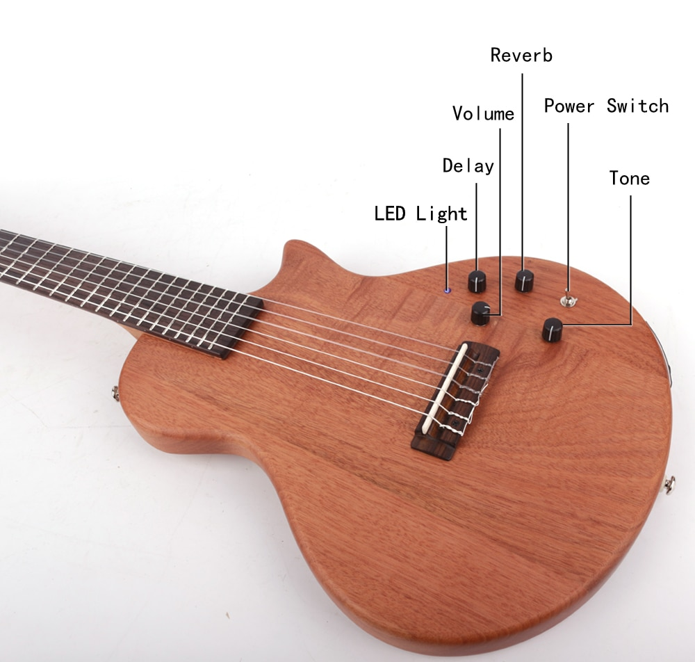 new design nylon string  classical silent electric guitar built in effect travel portable free shipping enlarge