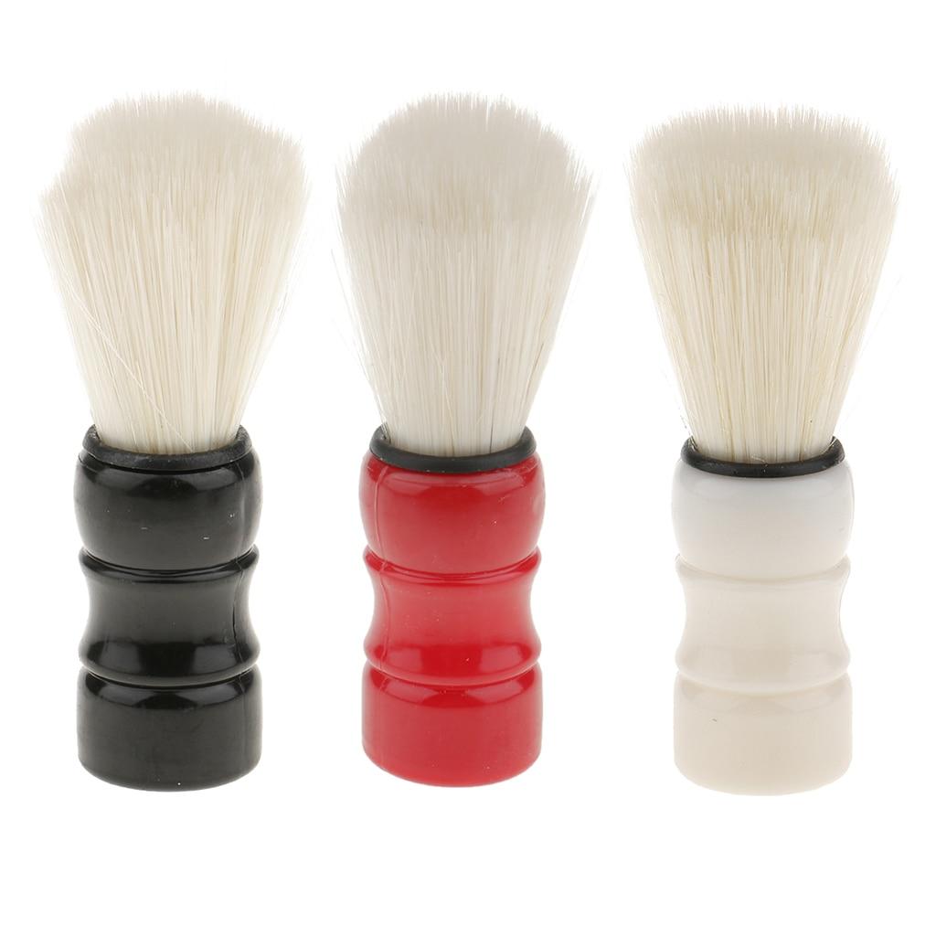salon professional bristle Professional Hair Salon Barber Shaving Brush Beard Facial Bristle Mustache Soap Cream Brushes Tools For Men