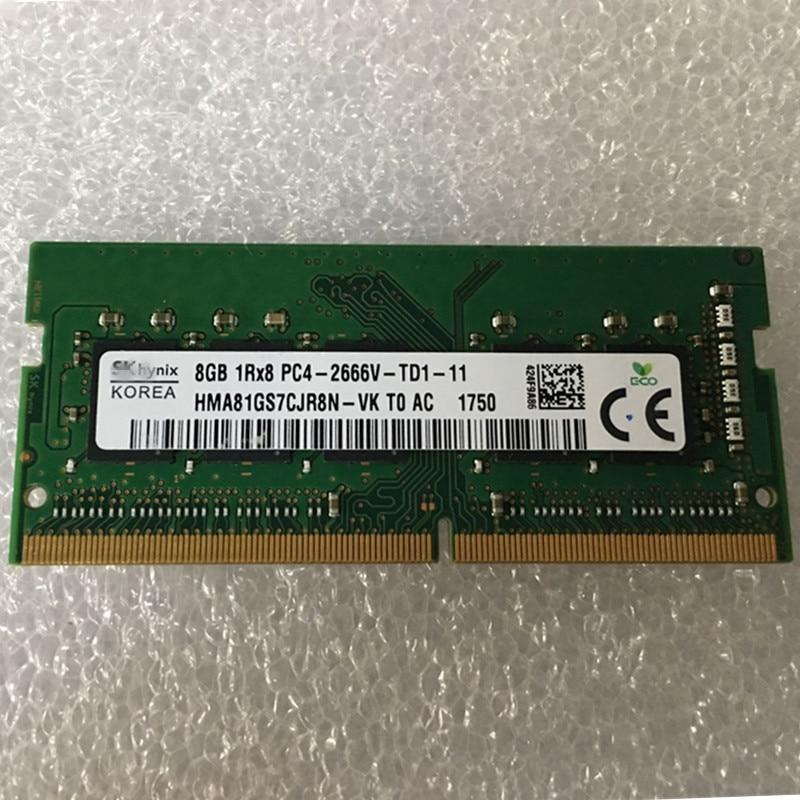 SK hynix portátil ddr4 1RX8 ram 8gb PC4 2666MHz memoria 8G DDR4 1Rx8 RAM portátil nuevo